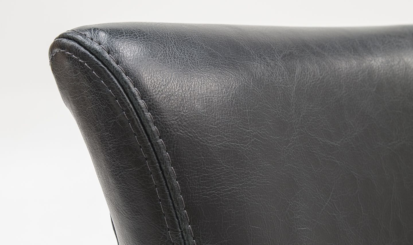 Imola Ink Blue Leather Dining Chair 218vd361
